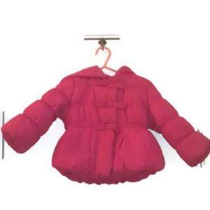 Preowned Rothschild Baby-Girls 3 Bow Dot Puffer Ja